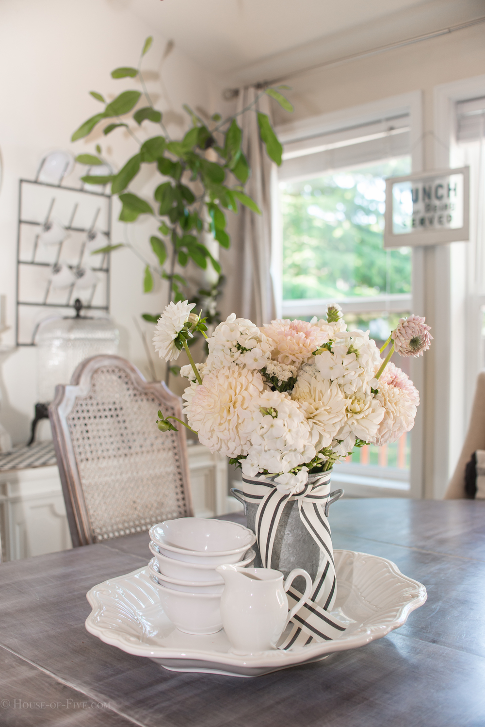Mixing old and new decor - Dining Room - House of Five Blog