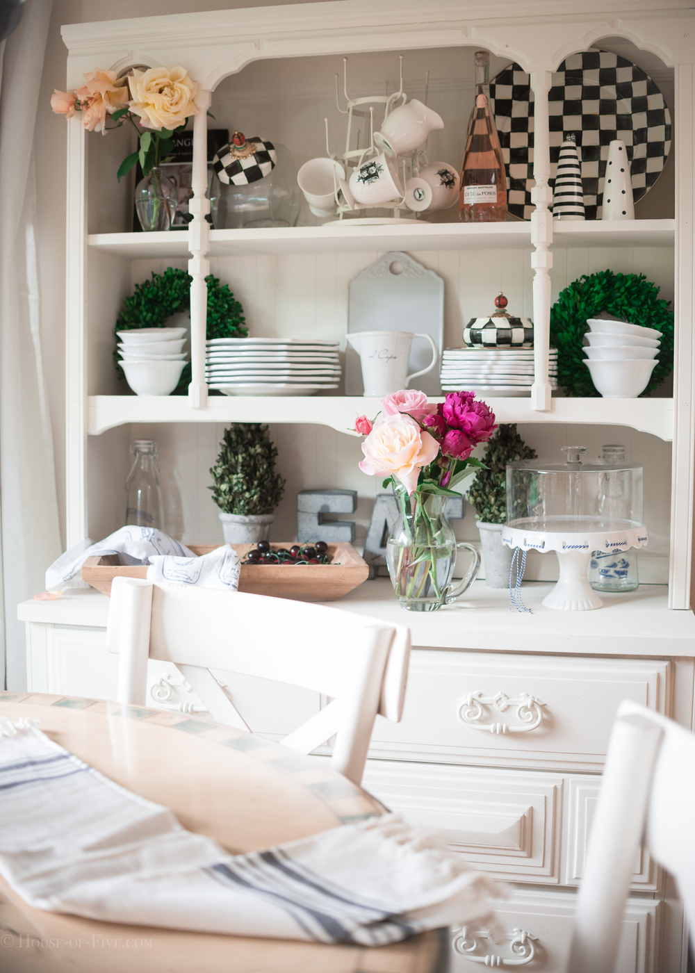 Kitchen hutch decor - House of Five Blog