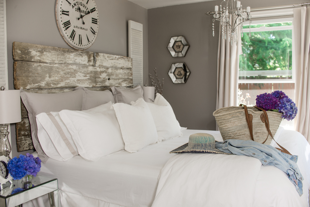 Mixing old and new - Master bedroom decor - House of Five Blog