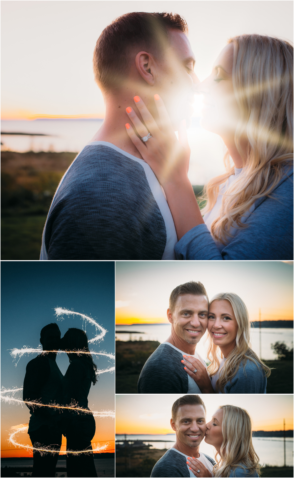 Save the date photos at sunset - House of Five Blog