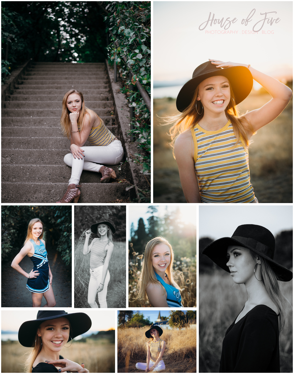 House of Five Senior Photos - Discovery Park, Seattle WA