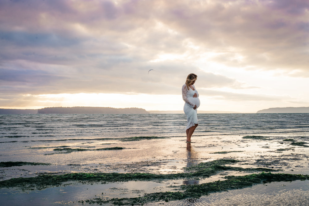 Jetty Island Beach Maternity photos