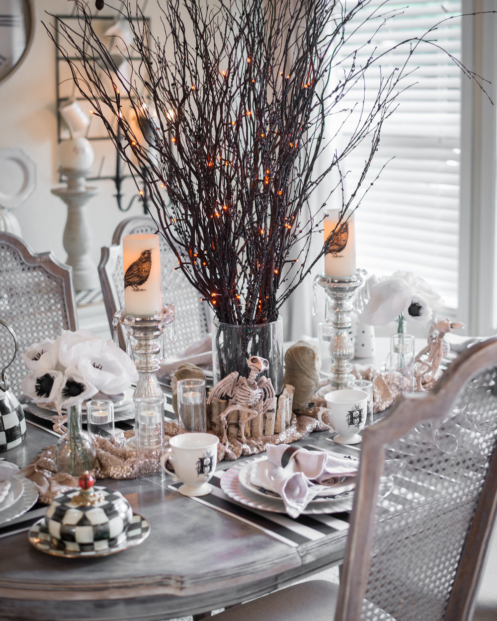 Dressy Halloween Dinner Party Table