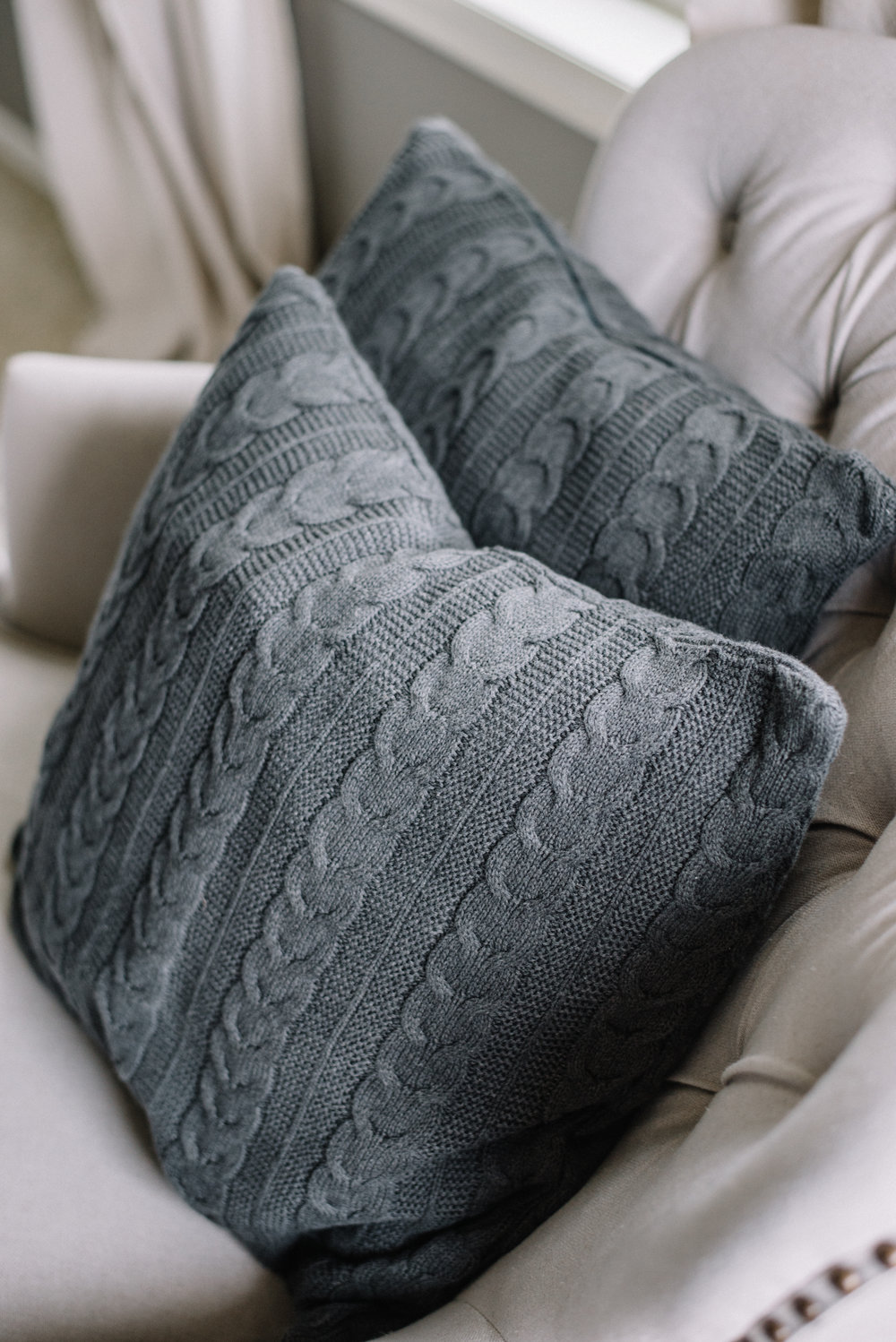 Sweater Pillows from Boll & Branch