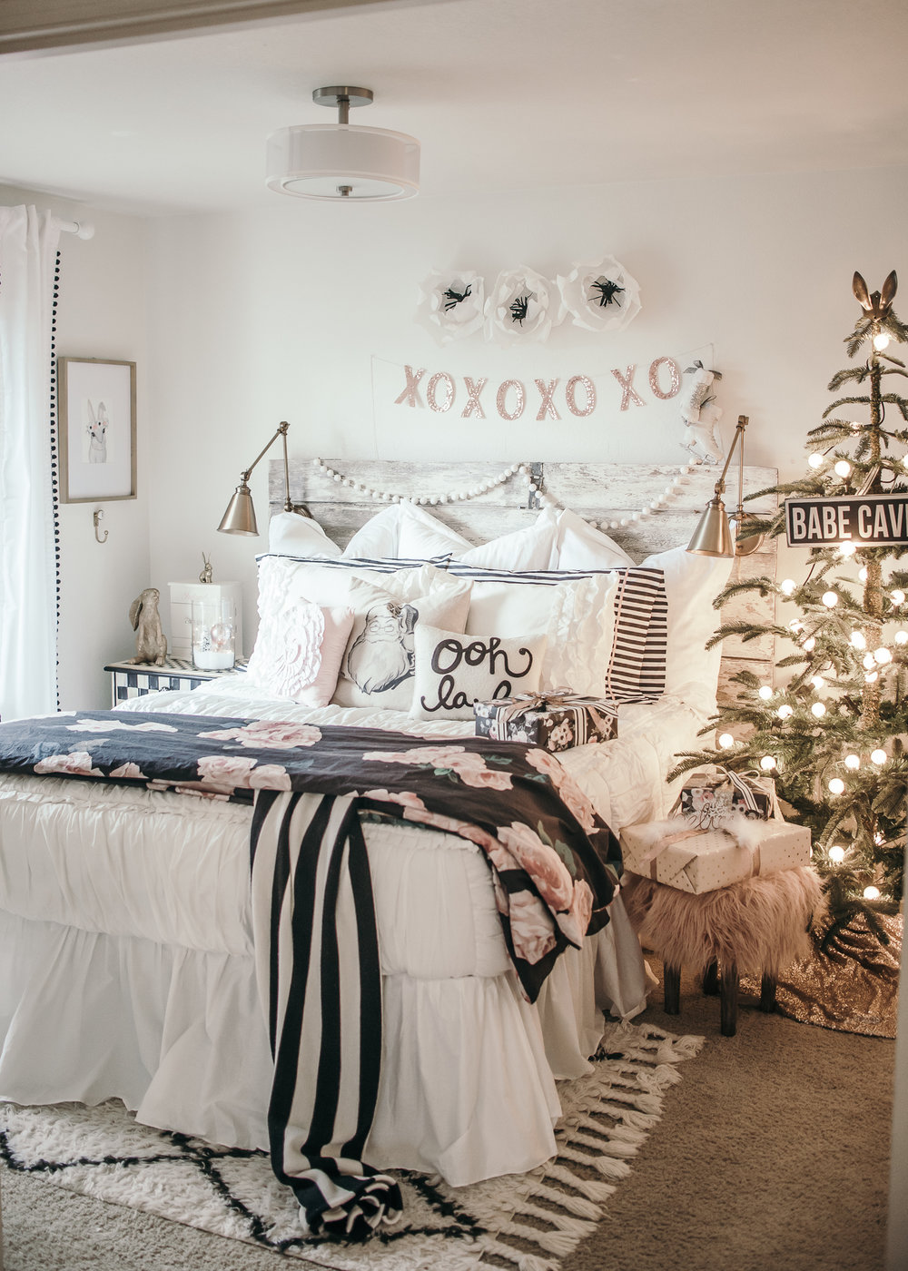 Girls Christmas Bedroom Makeover HOUSE OF FIVE