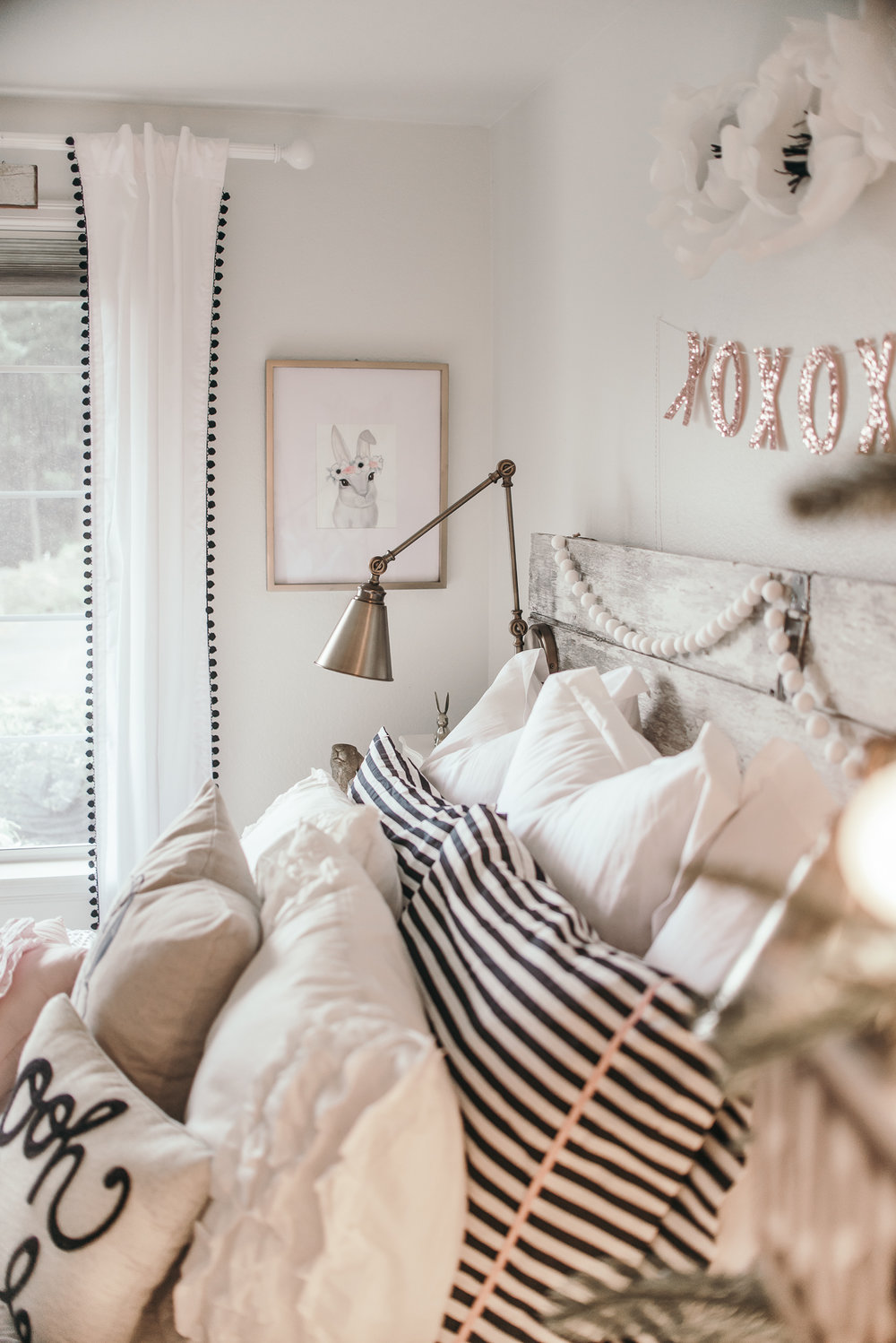 White Christmas Girls Bedroom