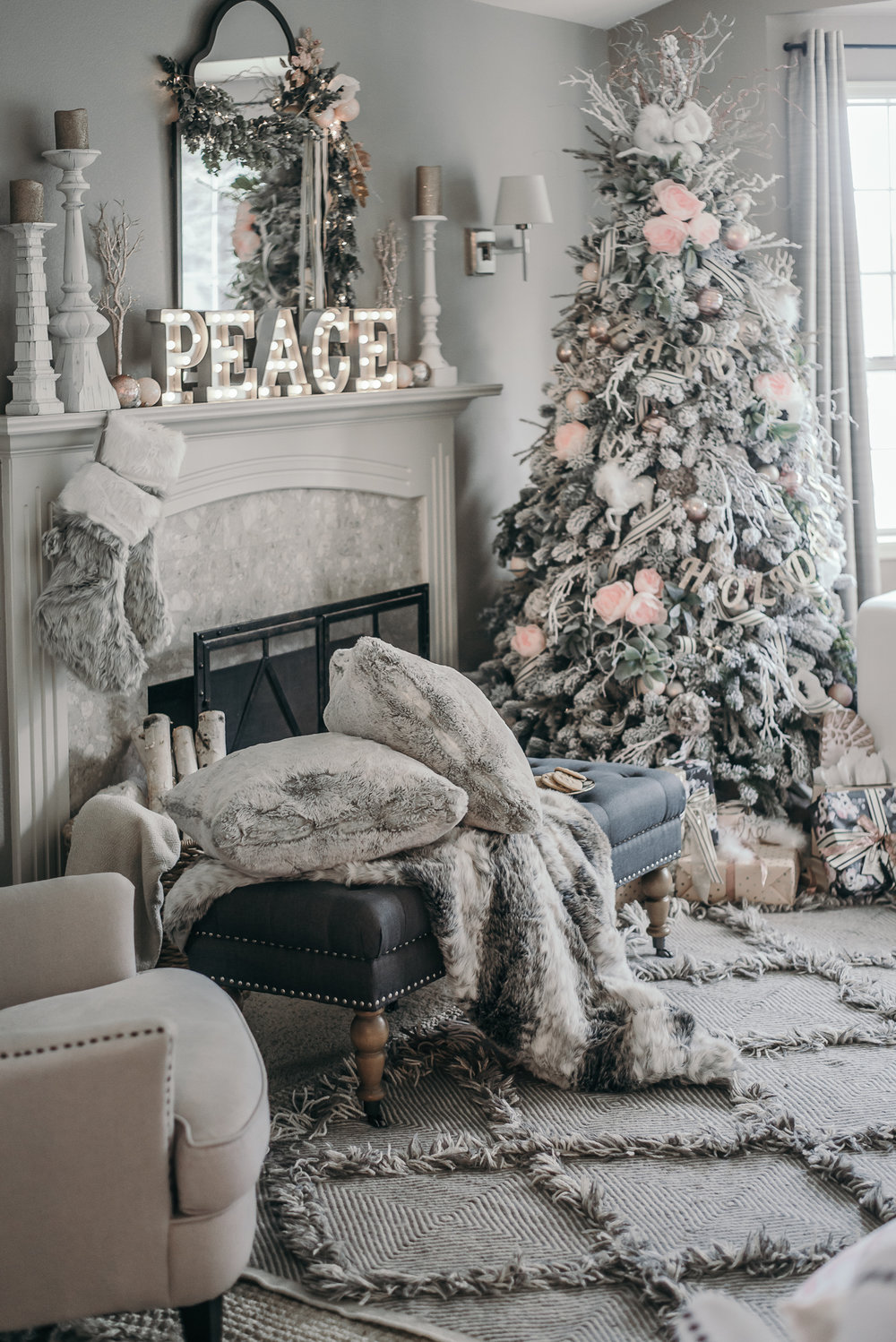 Holiday Home Decor Ideas Part - 45: Christmas Decor Ideas - House Of Five