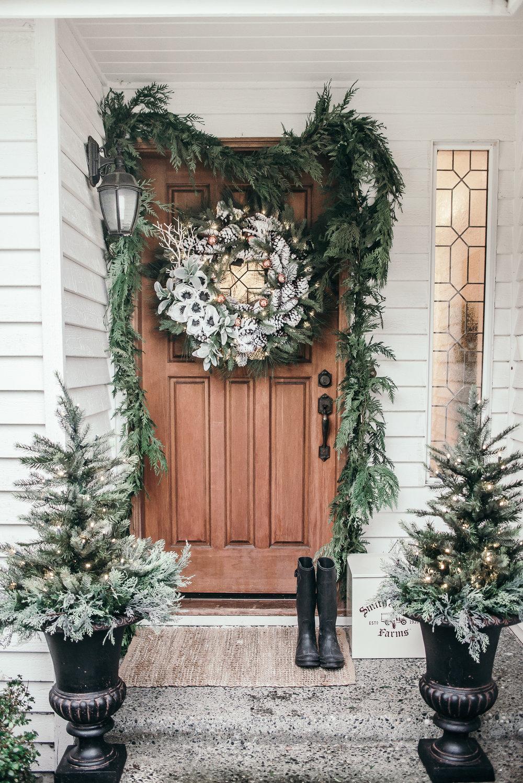 Christmas Decor Ideas - House of Five - Entry Exterior