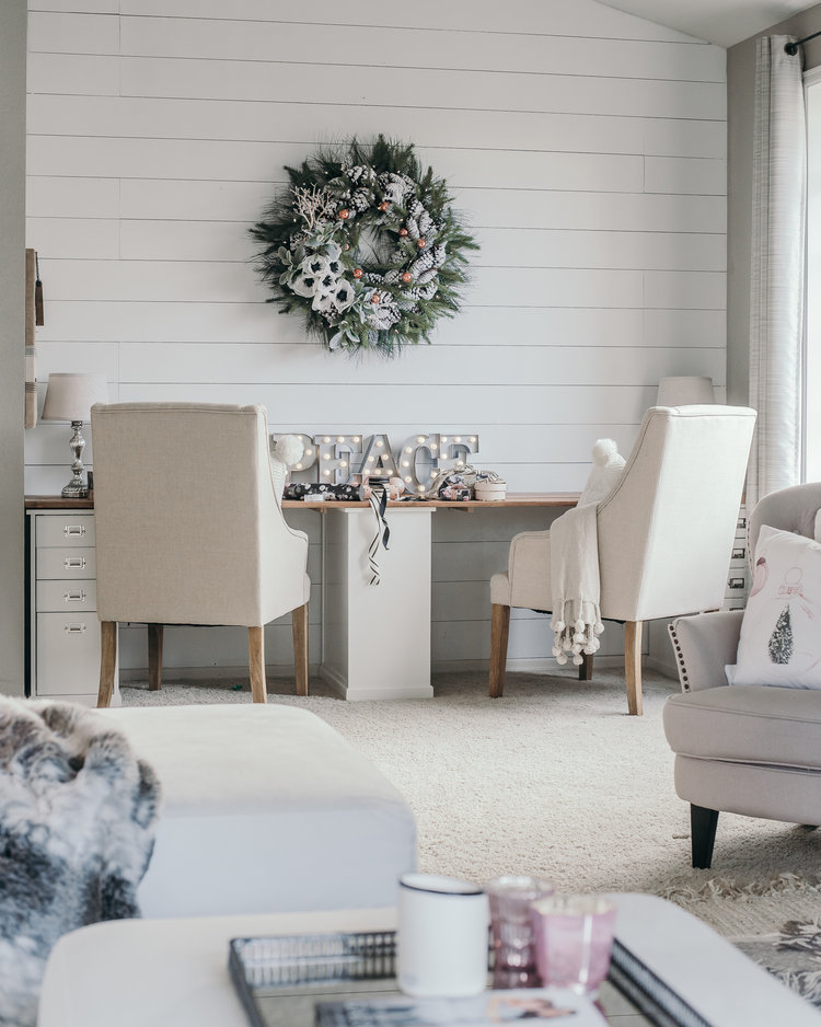 Christmas Decor Ideas - House of Five - Shiplap Office