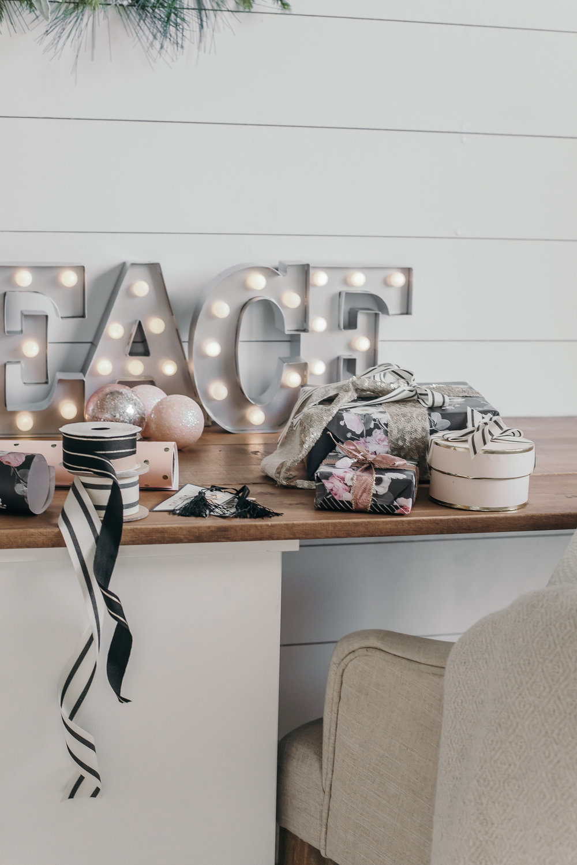 Christmas Decor Ideas - House of Five - Shiplap Office