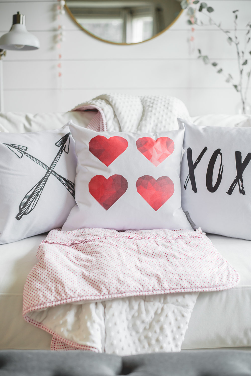 So Vintage Chic Valentines Day Pillow Covers