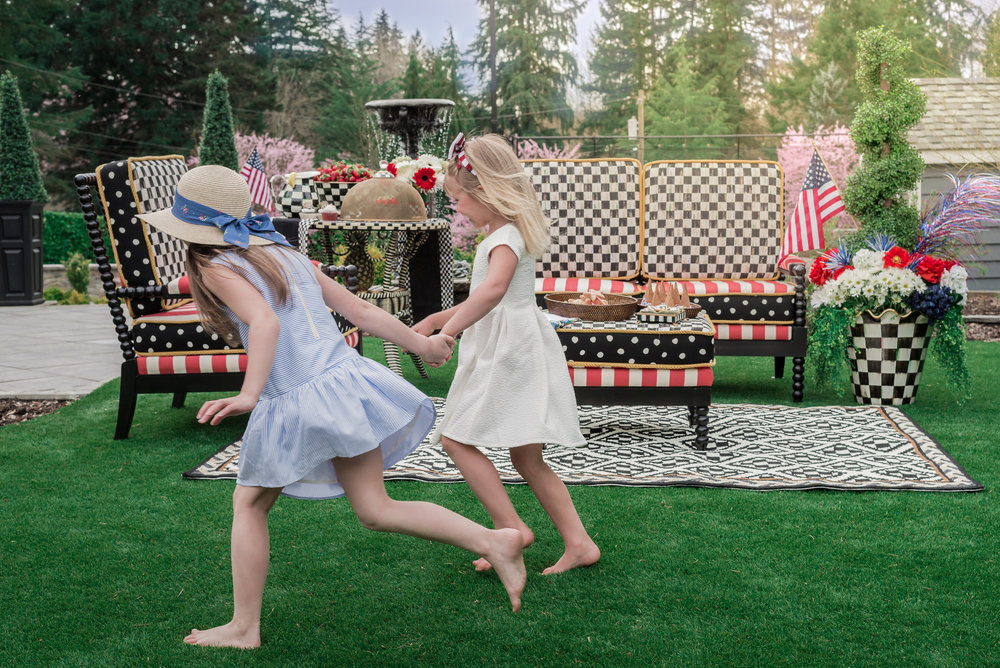 MacKenzie Childs Outdoor Summer Patio - 4th of July Decor