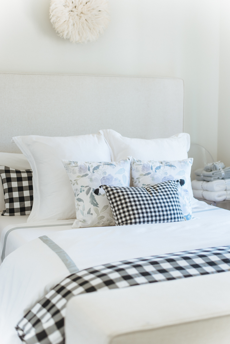 House of Five Guest Room - Boll & Branch bedding and Arhaus Furniture