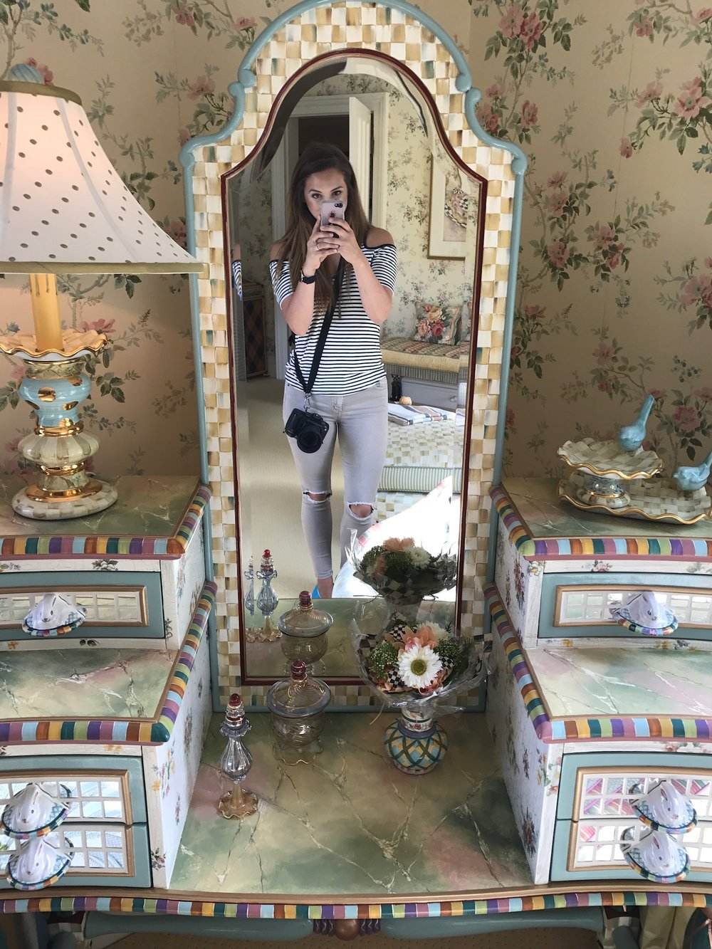 A must have selfie in this incredible MacKenzie-Childs vanity!