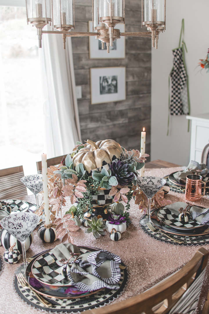 Autumn Fall Table dining with MacKenzie-Childs