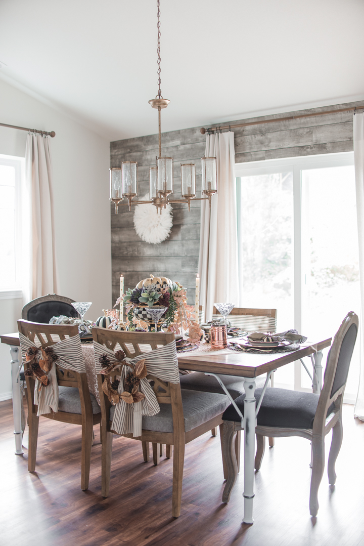Autumn Fall Rustic Glam Dining Room