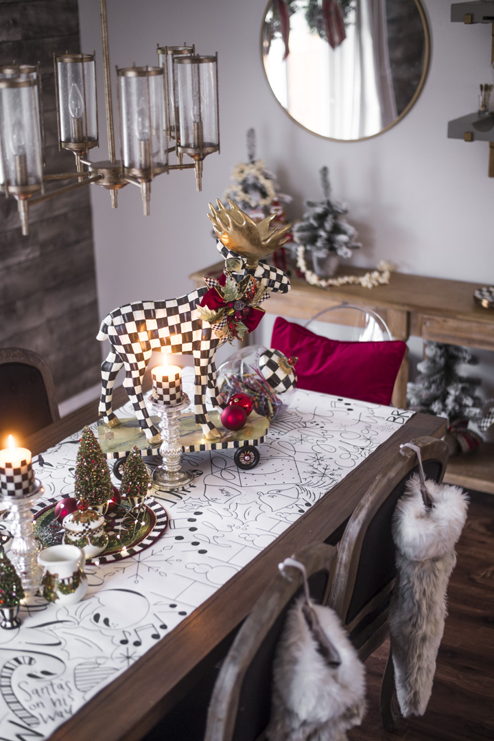 Craft Paper Table Runner - MacKenzie-Childs Christmas Decor