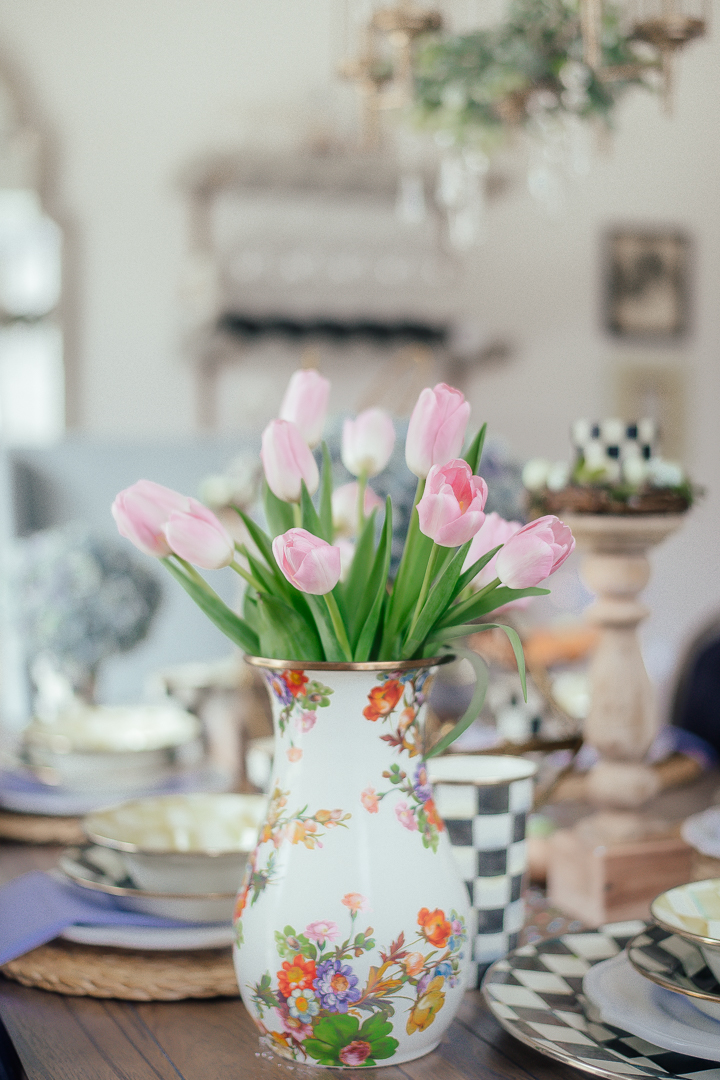 I try to always have fresh tulips in the house this time of year. They are one of my favorites!