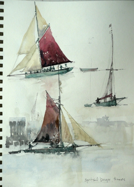 Spritsail Barges, Thames