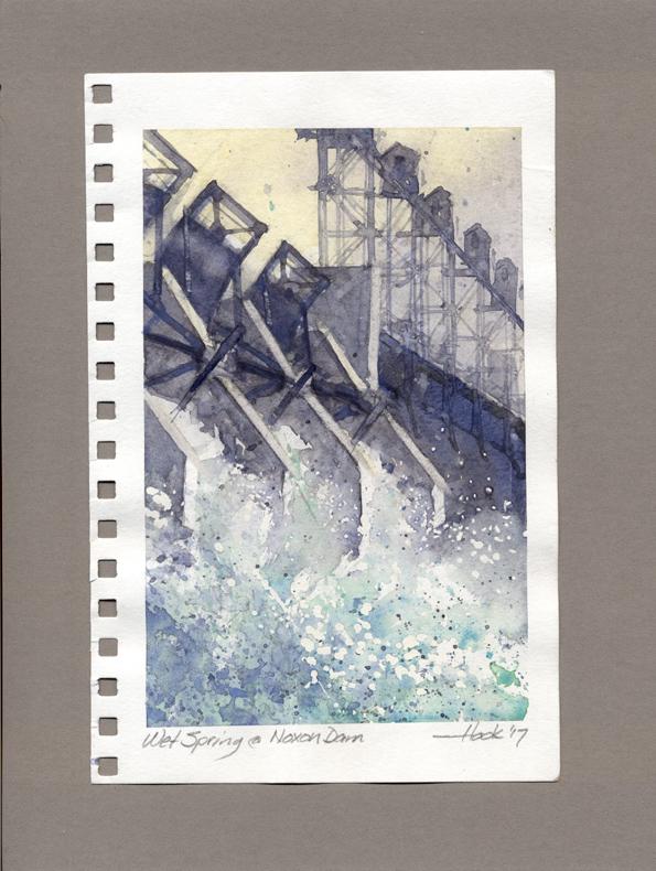 186-59  Wet Spring at Noxon Dam