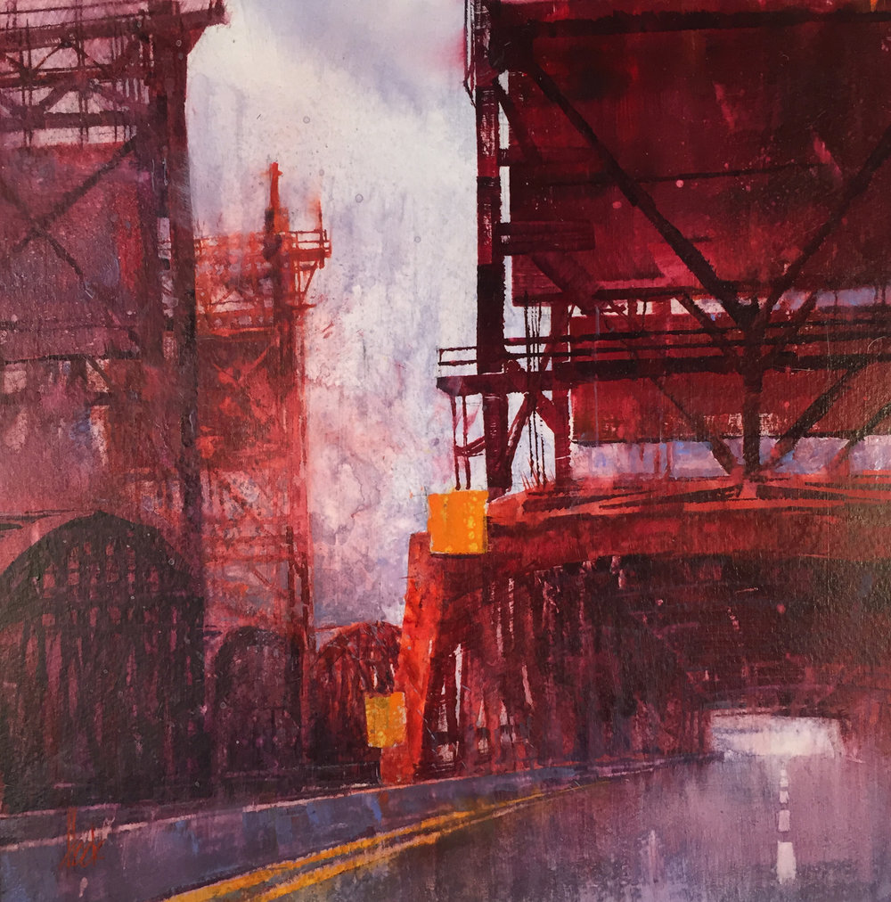 Bridge Study in Red