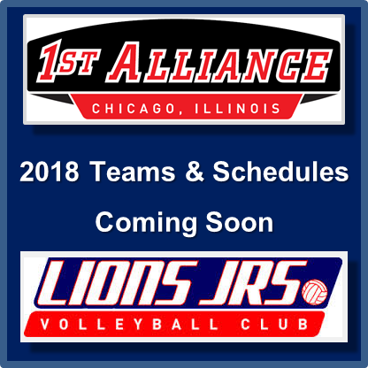 1st Alliance VBC Teams and Schedules 2018