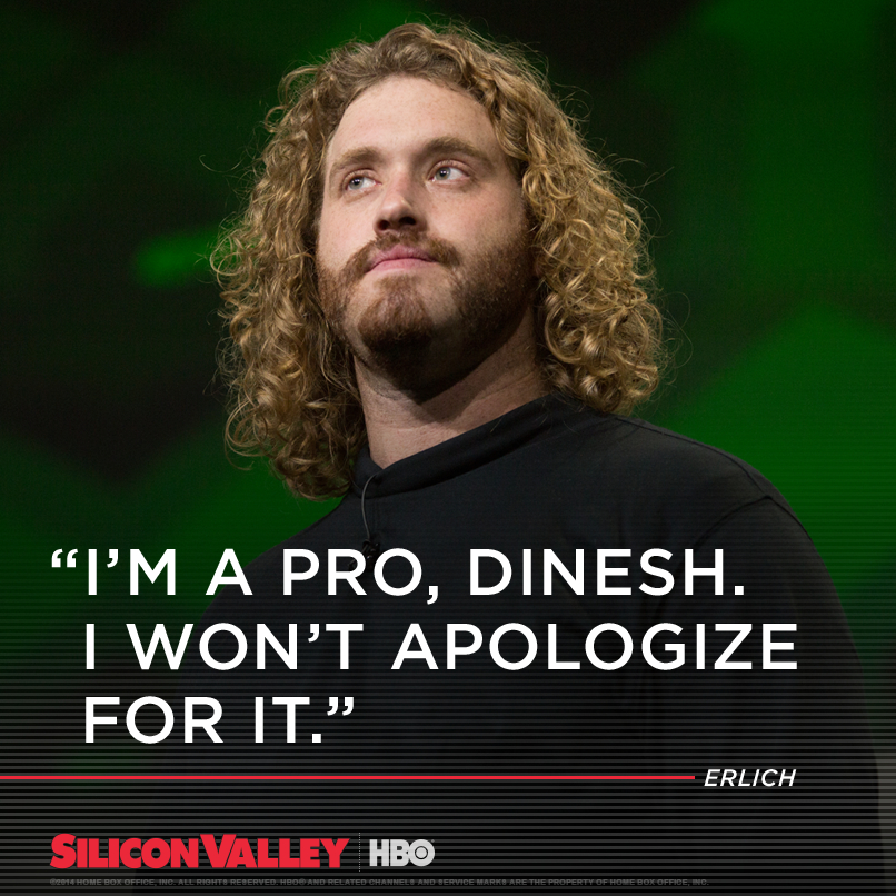 siliconvalleyhbo: Erlich Bachman presenting Pied Piper. For those even remotely in tech who haven't watched HBO's Silicon Valley, you must. References are priceless. Here's an article that prompted me to post: http://recode.net/2015/02/01/silicon-valley-cast-learns-where-silicon-valley-is/