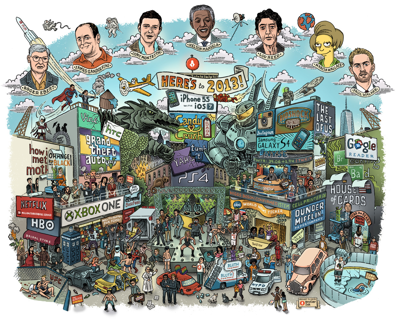 digithoughts: Here's to 2013 | Beutler Ink 2013 highlights according to Beutler Ink and illustration artist Mario Zucca. Pretty tech-heavy. See if you can find Arrested Development.
