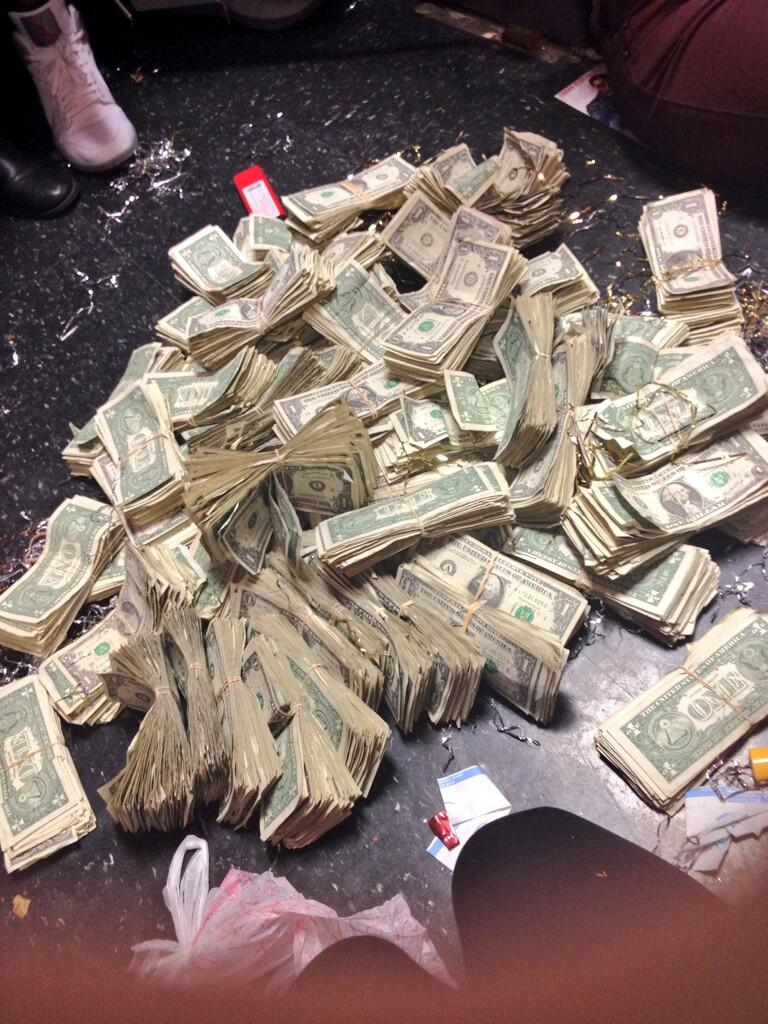 """thefader: THIS IS THE PILE OF MONEY JUSTIN BIEBER LEFT AT HOUSTON'S VLIVE THIS IS HIS NEW NASTY JAM So I've been a Bieber hater since the beginning… mostly because of that exaggerated mop haircut. But I did happen to see the documentary, """"Justin Bieber: Never Say Never,"""" which opened my eyes to his talent and work ethic. Throw in the new hair cut, and I almost don't hate him any more. As you can imagine, I feel like I'm missing something when a magazine like The FADER does a post on one of Justin's songs — a magazine known for covering cool and iconic music before anyone else and opening our eyes to culture and fashion. Right? Or maybe they are just trying to drive search traffic to their video superheader take-over ad campaign for a cool and iconic sneaker brand that rocks fashion and culture — Onitsuka: Tiger. Right."""