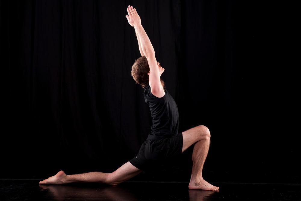 A yoga pose to stretch the back and hip flexors