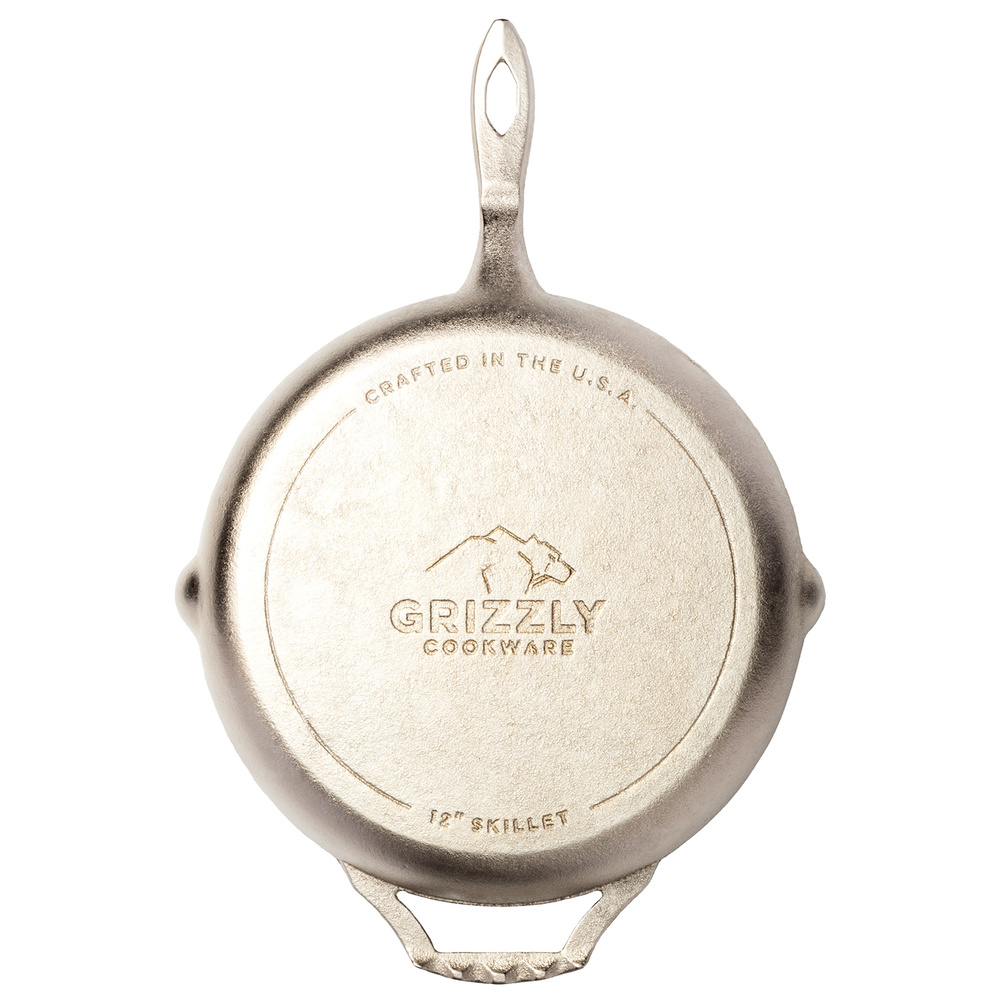 "Grizzly Cookware - 12"" Skillet"