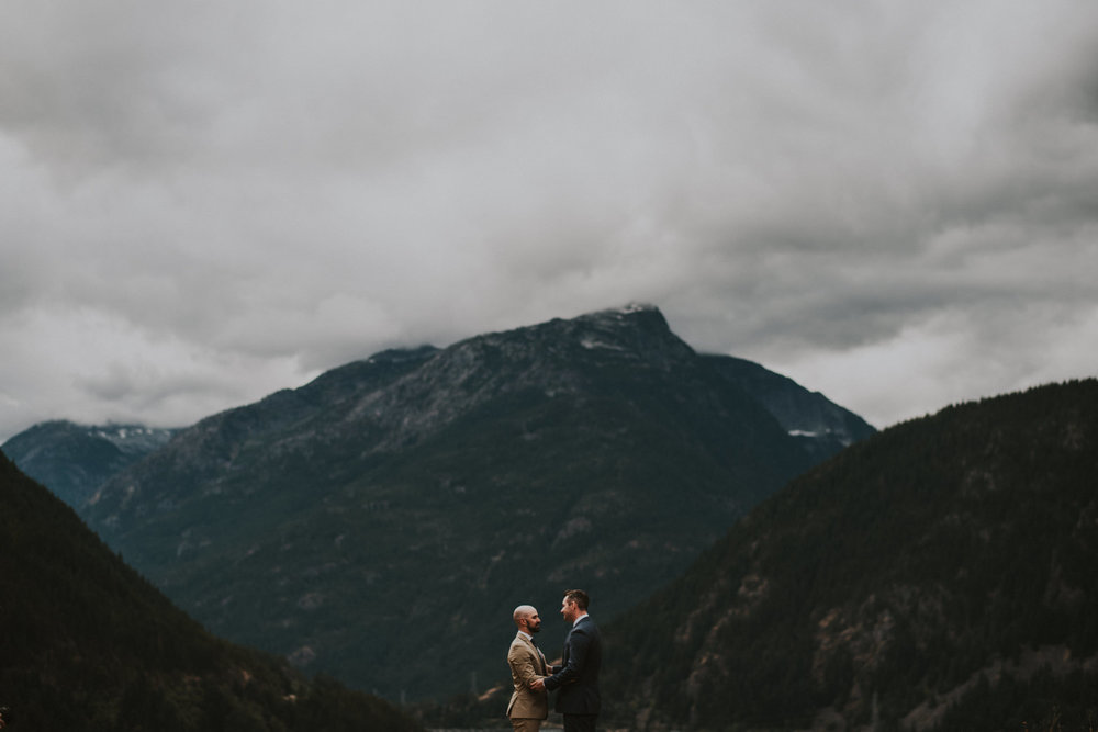 Diablo Lake Same Sex Elopement