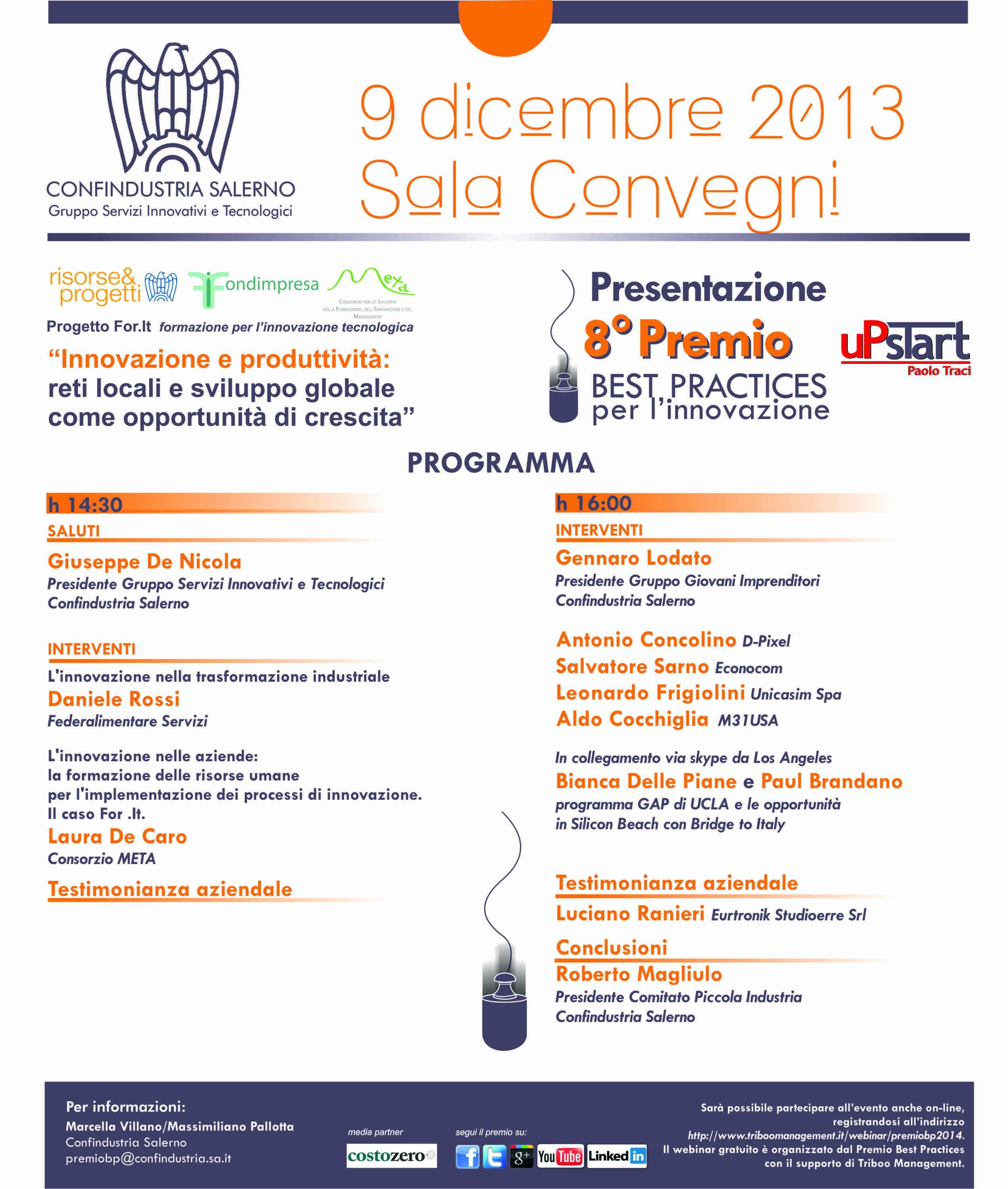 Next Week, Let's All Meet in Salerno!