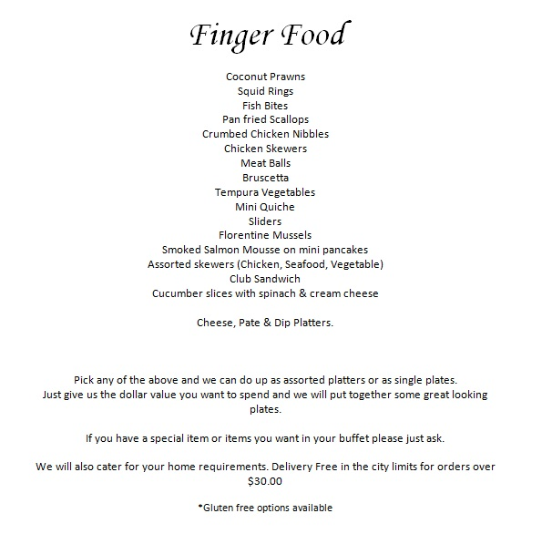 Download the  finger food PDH here