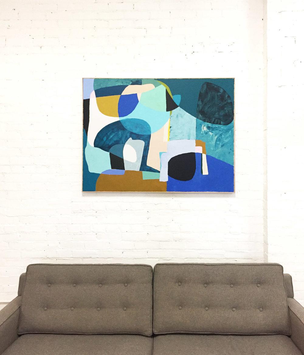"""48"""" X 36"""" acrylic on canvas, framed.  Custom piece, SOLD"""