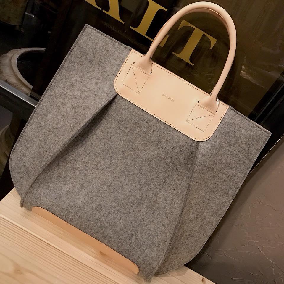 graf lantz tote wool felt bags