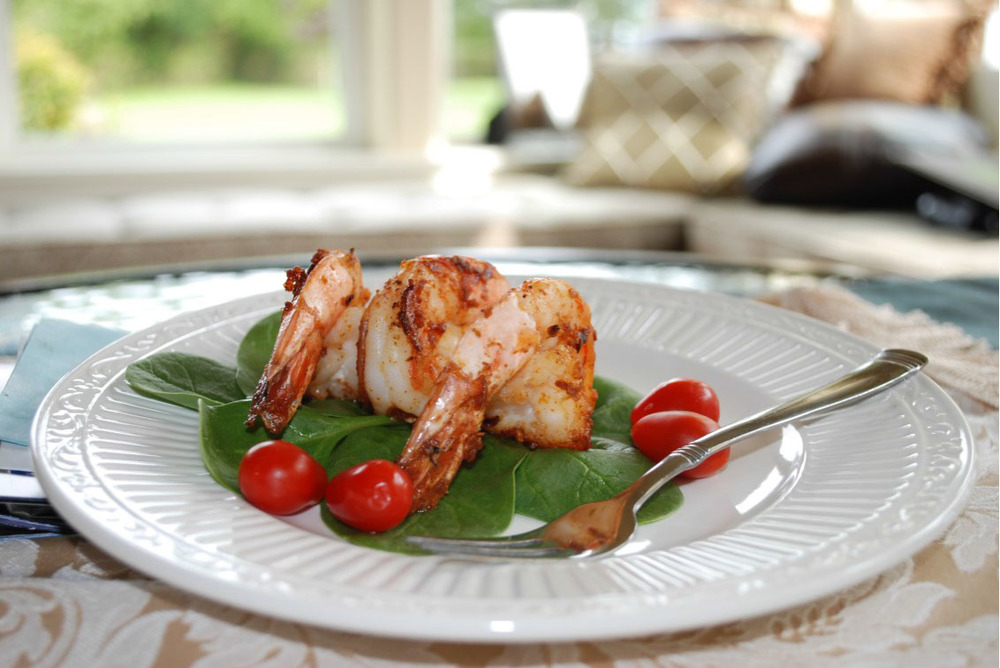 Balsamic Demi-glaced Prawns