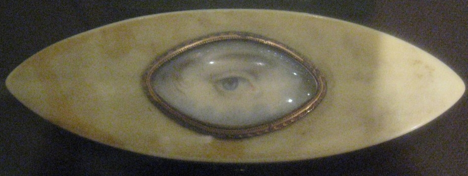19th Century Lover's Eye Miniature Mourning Brooch, National Portrait Gallery