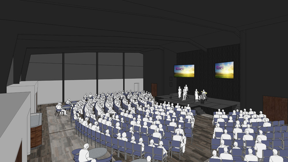 Interior concept of the multi-purpose worship center & gymnasium