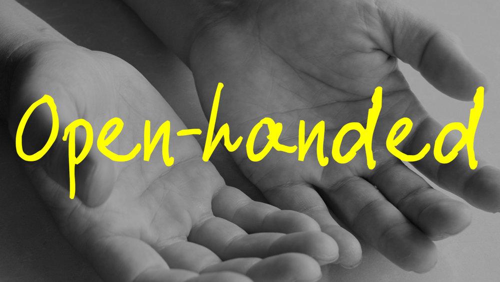 Open-handed