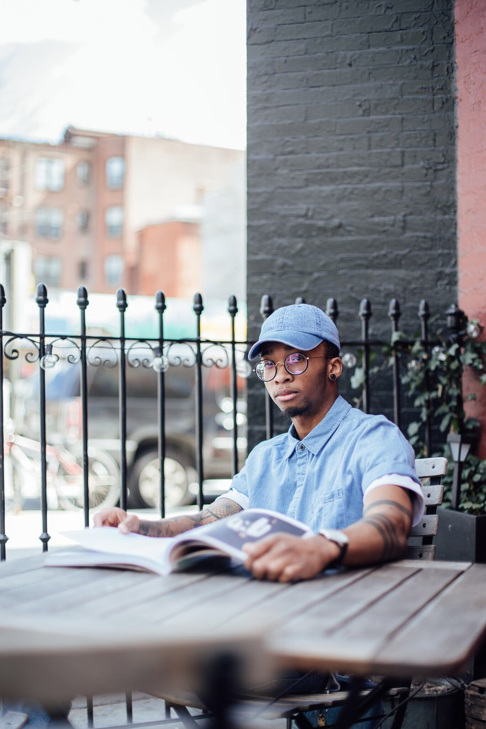 If you want a eye catcher cant go without a good ole denim baseball cap,   Photographer: Roland M
