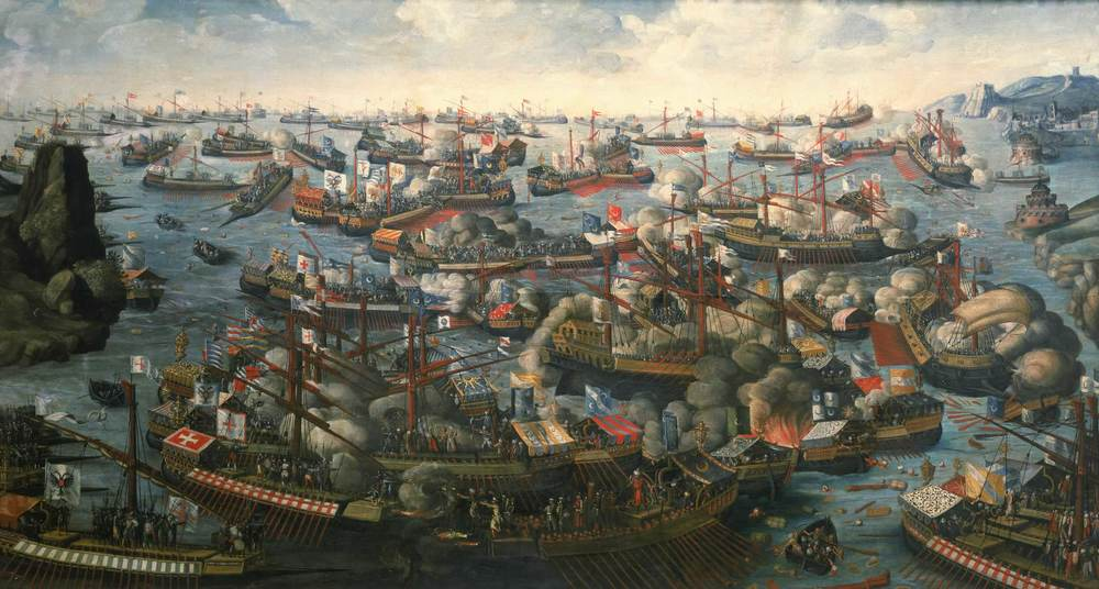 The Battle of Lepanto,  by an unknown artist.