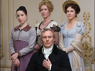 The Elliot family: Sir Walter, and (l-r), Anne, Elizabeth, and Mary.