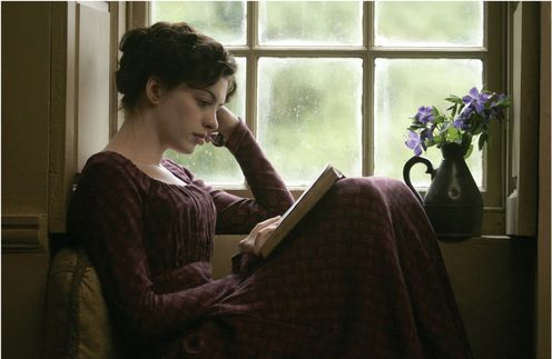 "Anne Hathaway as Jane Austen in ""Becoming Jane."""