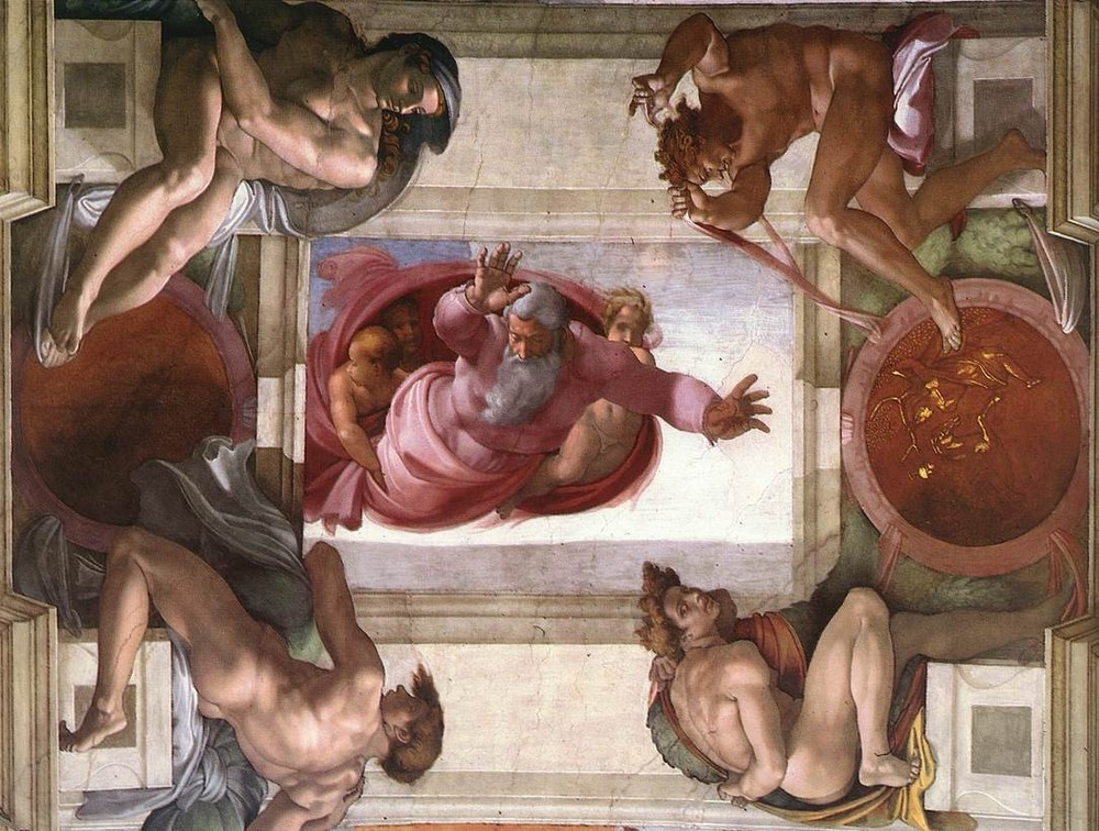 Michelangelo, God Dividing the Waters