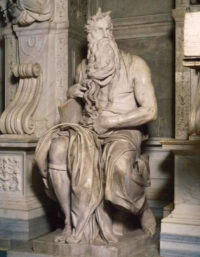 """Michelangelo, """"Moses"""", marble"""