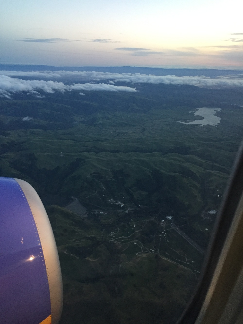 Salinas--Steinbeck Country--from the plane
