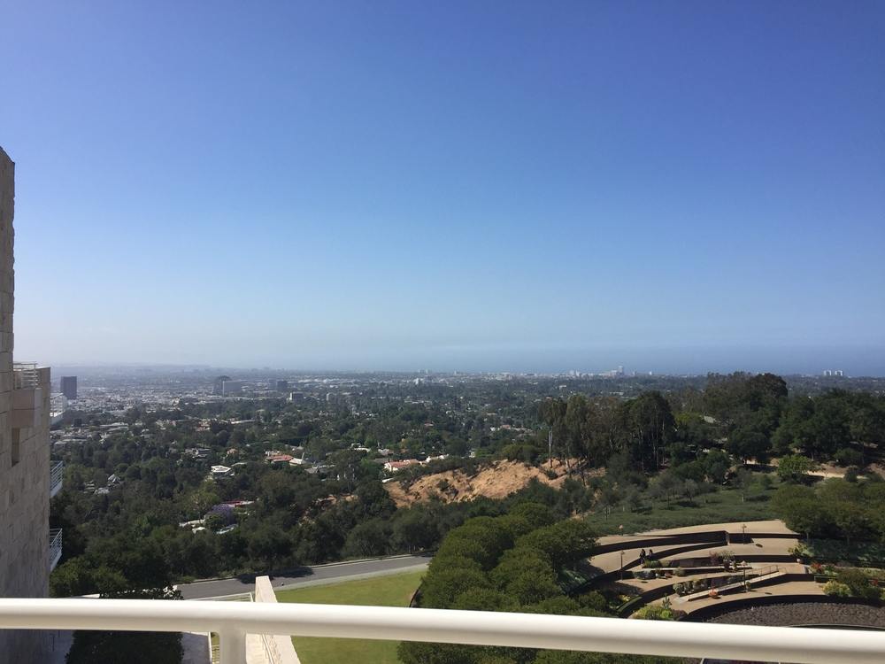 View from the Western Pavilion at the Getty