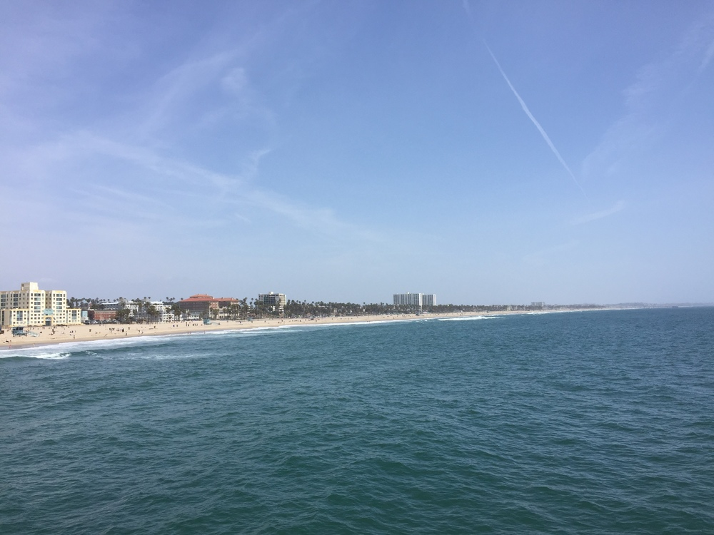Looking south from the pier