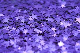 She would've liked this--purple confetti.